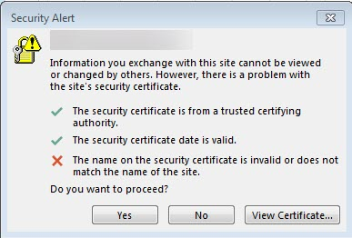 Do I really really need a new SSL certificate for Office 365